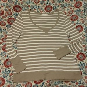 Old Navy XXL Striped Long Sleeve Thermal T-shirt